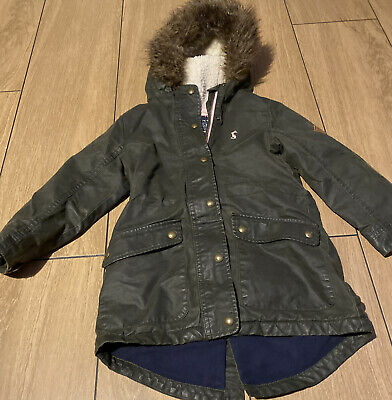 Joules Girls Wax Jacket Age 5 • 10£