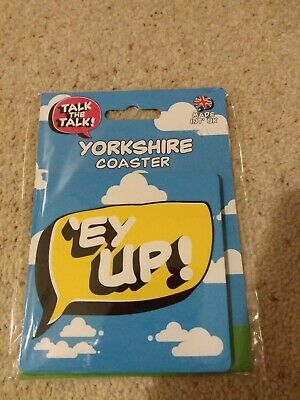 Yorkshire Dialect 'EY UP' Funny Drinks Coaster - Stocking Filler • 3.49£