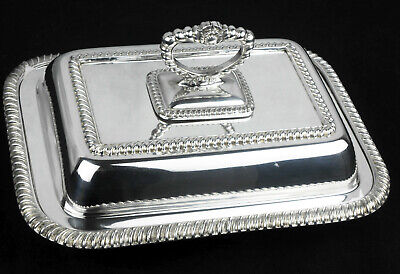 Antique Barker Bros Silver Plated Entree / Serving Dish • 23.99£