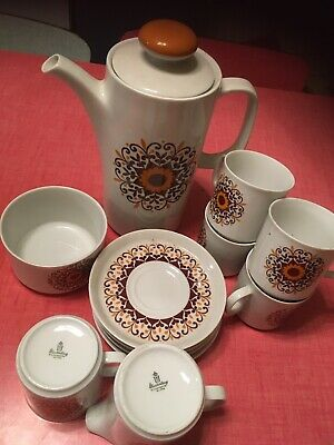 Retro WINTERLING BAVARIA COFFEE POT Set  5 Cups And Saucers Milk Sugar Pot 70's • 19.99£