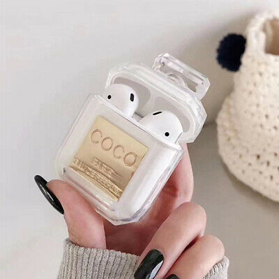 AU21.99 • Buy Airpod WHITE Apple CASE 1/2 Gift Perfume Pompom Airpods GIRL Cute Silicone 3D