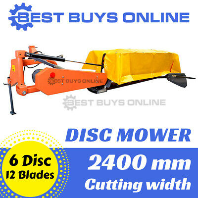 AU8989.99 • Buy Hay Mower 6 Disc 8 FT Hay Maker 2.4 M Cutting Width Slasher Tractor 3PL NEW