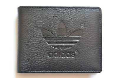 Mens Designer  Cow Leather Wallet / Coin Purse / Bi Fold Black NEW STOCK • 10.75£