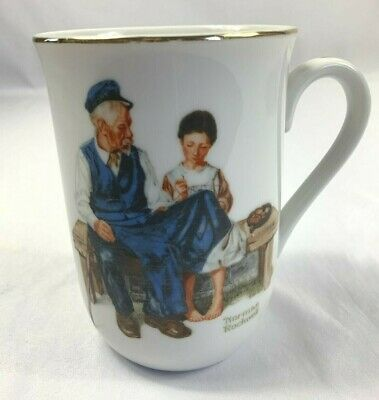 $ CDN16.32 • Buy VTG 1982 Norman Rockwell Museum Coffee Cup Mug The Lighthouse Keeper's Daughter