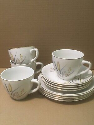 Barratts Delphatic Tableware, Five Matching Cups, Saucers & Tea Plates.. • 7£