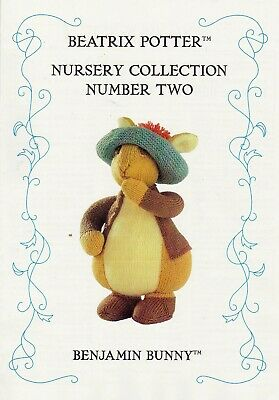 Beatrix Potter Benjamin Bunny Tdb  Toy Knitting Pattern   • 20£