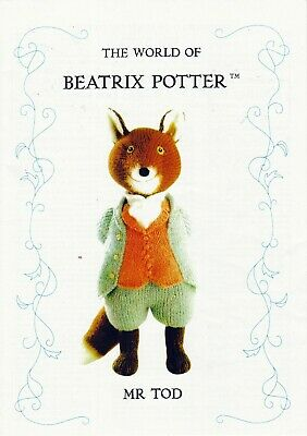Beatrix Potter  Mr Tod  ( Fox )  Tdb  Toy Knitting Pattern  • 23£
