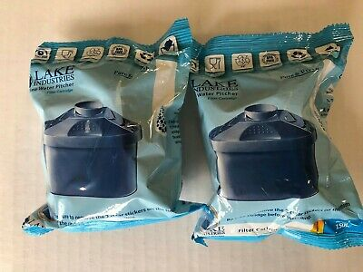 Lake Industries Alkaline Water Pitcher Filter Cartridges Lot Of 2 New • 11.44£