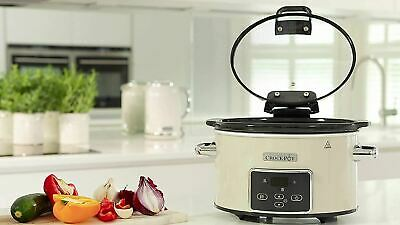 Crock-Pot CSC060 3.5L Slow Cooker With Hinged Lid, Programmable Digital Display • 34.95£