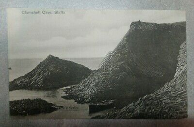 Unposted Valentines Postcard Clamshell Cave, Staffa, Inner Hebrides, Scotland • 2£