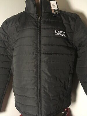 £18.12 • Buy NWT Mens GEORGIA COLLEGE Bobcats BLACK PUFFER JACKET  Large L LICENSED Free Ship