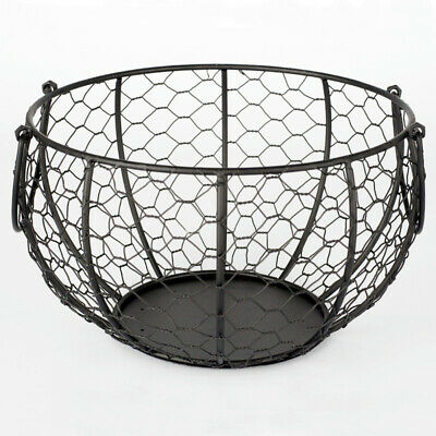 Iron Wire Hen Egg Storage Basket Wire Vintage Retro Display Rack Container • 12.01£