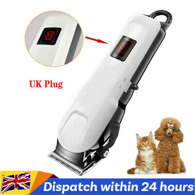 UK Professional Dog Grooming Clipper Kit Thick Fur Hair Trimmer Electric Shaver  • 29.99£
