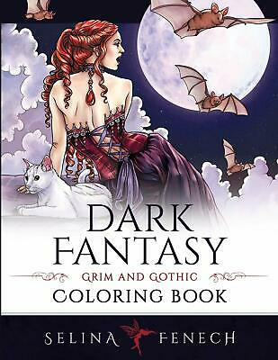 Dark Fantasy Fairies Dragons Art Adult Colouring Book Witches Magical Beasts • 10.99£