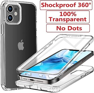 Clear CASE Cover For IPhone 12 11 Pro Max Mini XR SE 8 7 6 Plus Screen Protector • 3.95£