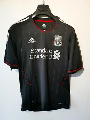 Men's ADIDAS Climacool Liverpool F.C Football T-Shirt Top Jersey Black BNWT Sz M • 34.99£