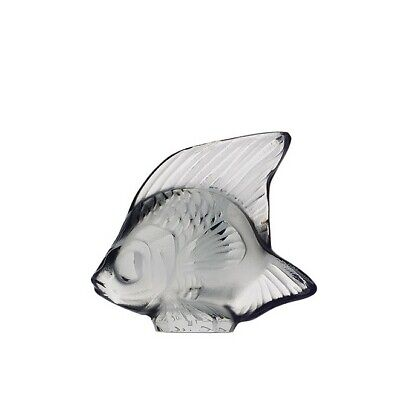Factory New Lalique France Fish Sculpture In 'Grey' W/ Box • 70.22£