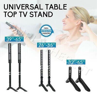 AU26.95 • Buy Convenient Universal TV Stand Mount For Samsung Sony Sharp 32-65  LCD LED TCL TV