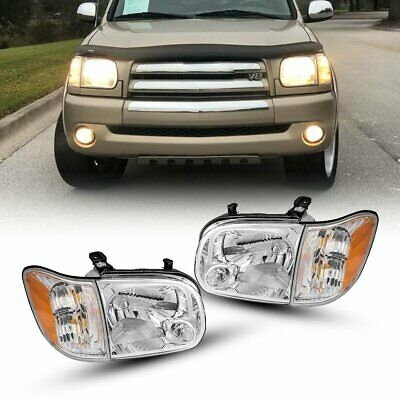 $139.37 • Buy For Toyota Tundra Double Cab 05-06 Headlights Assembly Left+Right Clear Lens