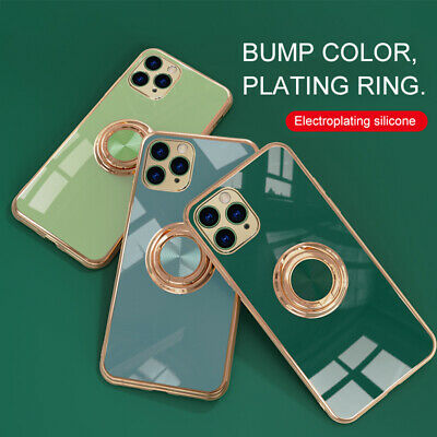 AU6.45 • Buy For IPhone 12 11 Pro XS Max XR 8 7+ Electroplate TPU Case Cover With Ring Holder