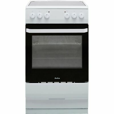 £249 • Buy Amica AFC1530WH Free Standing A Electric Cooker With Ceramic Hob 50cm White New