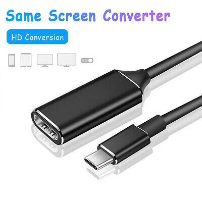 AU8.45 • Buy USB Type C To HDMI Cable Adapter 4K 30HZ USB3.1 To HDMI Male To Female Converter