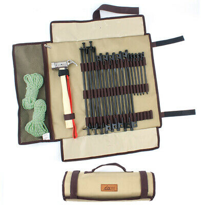 AU21.89 • Buy Outdoor Camping Tent Peg Nail Storage Case Hammer Tool Tote Bag Collapsible
