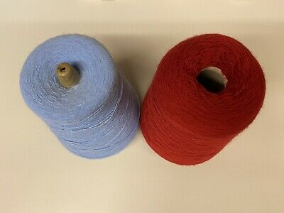 Yarn On Cones, 910g Lot, Blue And Red,knitting,machine • 8.99£