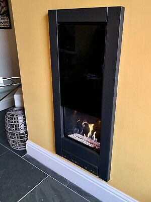 Gazco Loft Tall Gas Fire Black • 595£