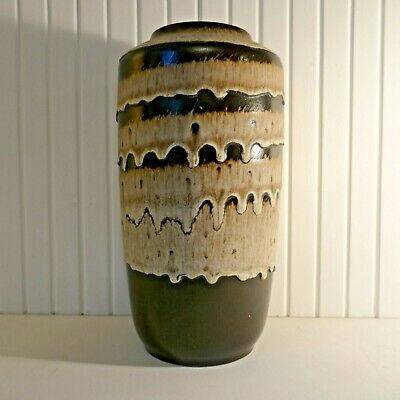 Large West German Fat Lava Scheurich 517-38 Floor Vase. 1960s 70s Retro. • 40£