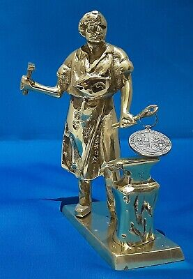 Masonic Solid Brass Tubal-Cain Figure Very Rare And Collectable • 5£