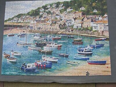 Gibsons Mousehole Cornwall Terry Harrison 1000 Piece Jigsaw Puzzle1piece Missing • 19.99£