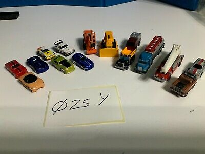 Micro Machines Job Lot 15 Vehicles Inc Fire Engine 025Y • 10£