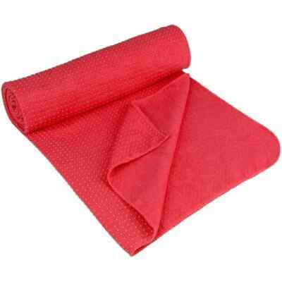 Avento Yoga Towel Anti Skid Aura Pink Sport Exercise Pilate Mat Cover Blanket • 30.64£