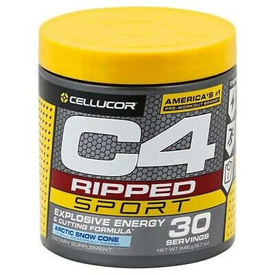 AU33.70 • Buy Cellucor C4 Ripped Sport Pre-workout 30 SERVES Artic Snow Cone