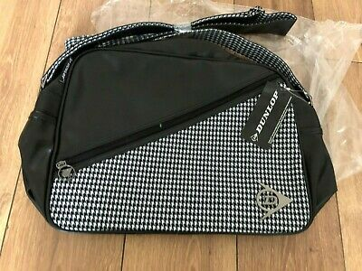 £25.50 • Buy Dunlop PVC Flight Bag Black & White New With Tags