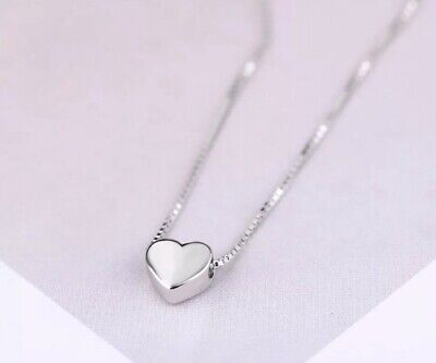 £12 • Buy 925 Sterling Silver Heart Necklace, Small Heart Silver Pendant Necklace