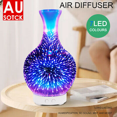 AU30.09 • Buy 3D Firework Aromatherapy Diffuser Aroma Essential Oils Ultrasonic Air Humidifier