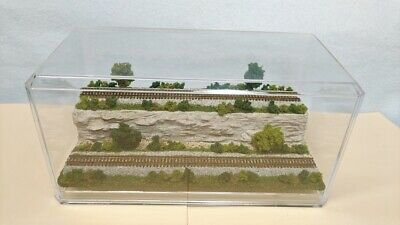 AU45.27 • Buy Z Scale Display Case-2 Level Cliff Scene-for Any Z Train, Loco & Car-- Ld