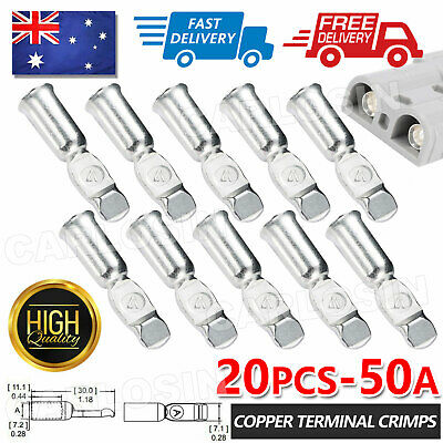 AU13.95 • Buy 20x 50Amp Copper Terminals Connector For 50a Anderson Style Plugs Contacts