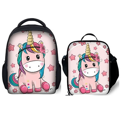 AU20.13 • Buy Perpetual Parenting - Unicorn 12 Inch Toddler Backpack With Insulated Lunch Bag