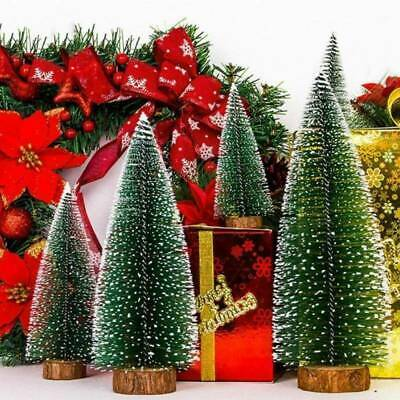 5 Pack Small Mini Table Top Christmas Tree Decorations 10/15/20/25/30CM Green UK • 9.06£