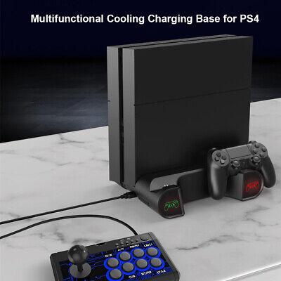 AU43.46 • Buy 2 In 1 Vertical Stand For PS4 Pro W/ Cooling Fan Cooler Dual Controller Charger