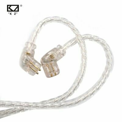 AU19.58 • Buy AK KZ ZSN/ZS10 PRO/AS16/AS12 Hundred Core Pure Silver Plated Upgraded Cable 2pin