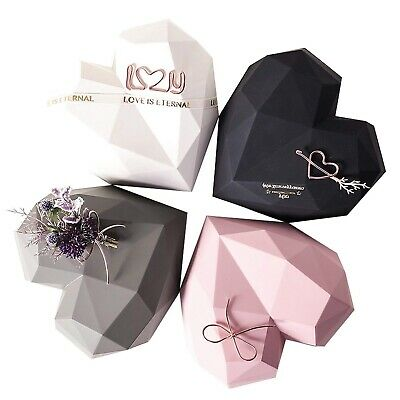 £27.99 • Buy Black Love Heart Shaped Gift Box (Small And Large) Florist Packaging UK EID