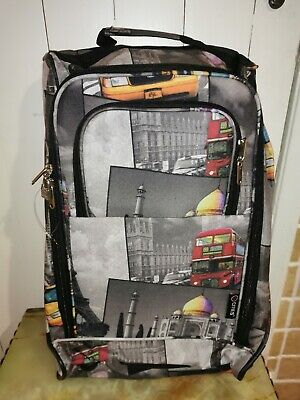 £14.99 • Buy Lightweight Wheeled Hand Luggage Trolley Cabin Bag Flight Bag Suitcase 5 Cities