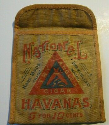 £9.04 • Buy Early Vintage National Havanas Cigar Pouch Try Angle's Cigar