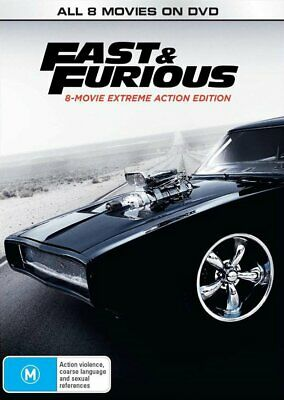AU45.44 • Buy Fast And Furious | 8 Movie Franchise DVD