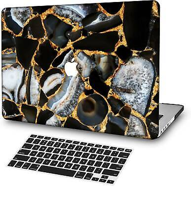 $15.76 • Buy Black Gold Marble Laptop Rubberized Hard Cut Out Case Cover For Macbook Pro Air