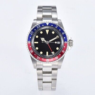 £69.99 • Buy Sterile Vintage Submariner Homage Watch Pepsi GMT Automatic Calendar Stainless